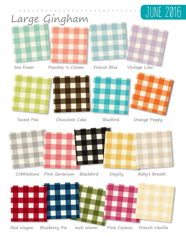 **2016 Large Gingham Paper Collection 8 1/2 x 11