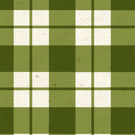 *Garden Moss Plaid 12x12 - One Sheet