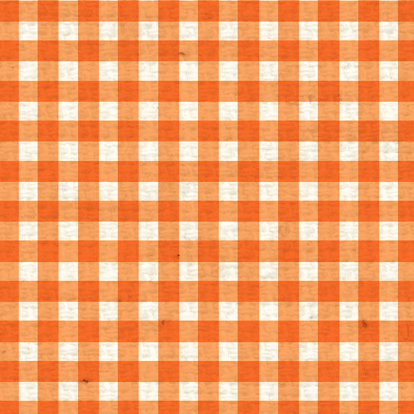 **OPMG8  Orange Poppy Mini Gingham 8 1/2 x 11