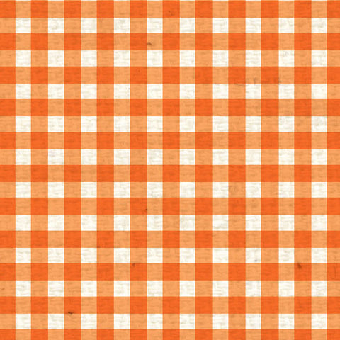 *OPMG8  Orange Poppy Mini Gingham 8 1/2 x 11