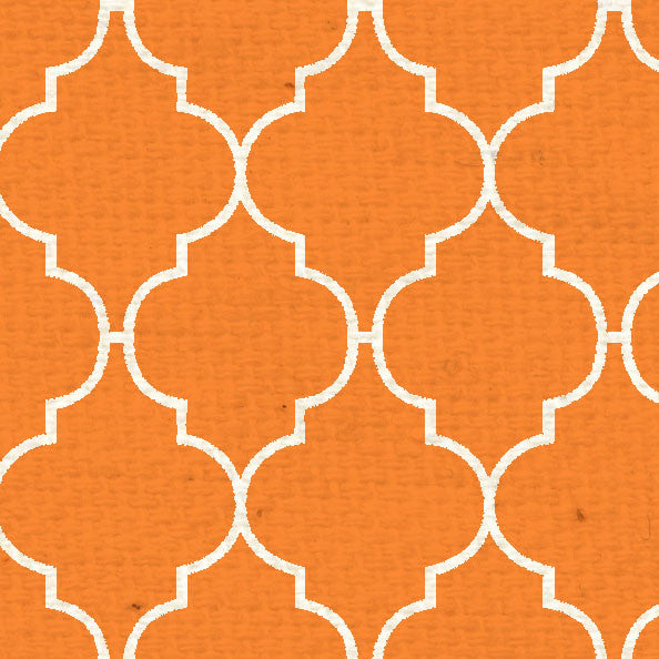 *OPQF8  Orange Poppy Quatrefoil 8 12  x  11