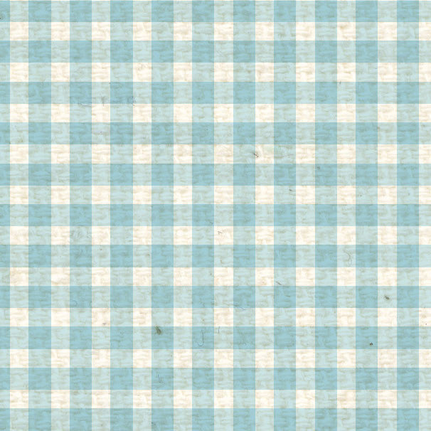 *FBMG8  French Blue Mini Gingham Paper  8 1/2 x 11