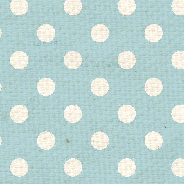 **FBPD12  French Blue Polka Dots Paper  12 x 12