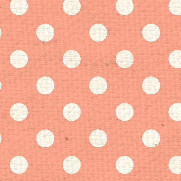 **PNCPD8  Peaches 'n Cream Polka Dots Paper  8 1/2 x 11
