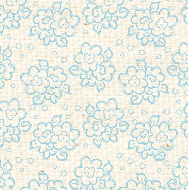 *FBDF8  French Blue Doodle Flowers Paper  8 1/2 x 11