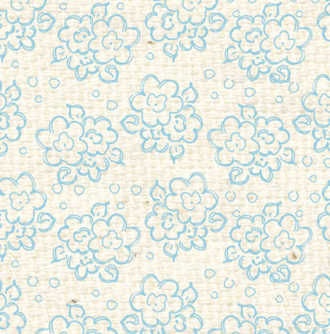 ***FBDF8  French Blue Doodle Flowers Paper  8 1/2 x 11