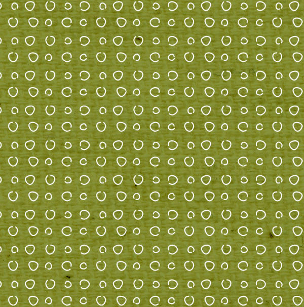 *IWGDD8  Inch Worm Green Doodle Dots Paper  8 1/2 x 11