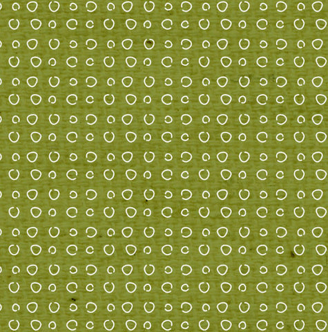 ***IWGDD8  Inch Worm Green Doodle Dots Paper  8 1/2 x 11