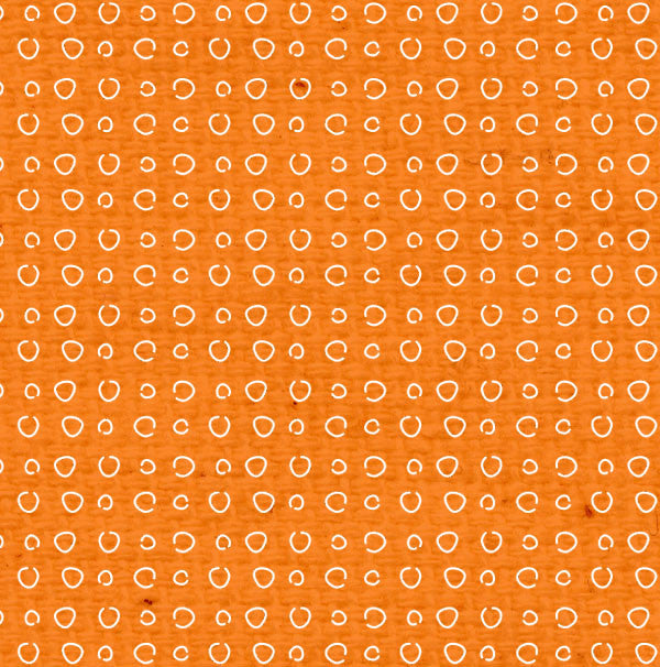 *OPDD8  Orange Poppy Doodle Dots Paper  8 1/2