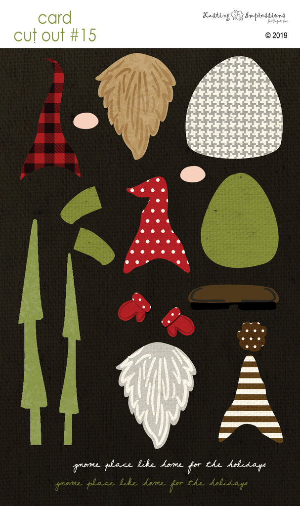 ********CCO15- Gnomes on Black Canvas Cut Out #15