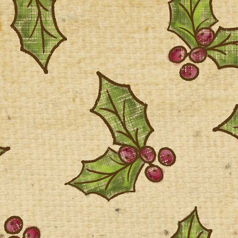 *********HDGHA - Holly Days Gingerbread Holly Aged Cardstock