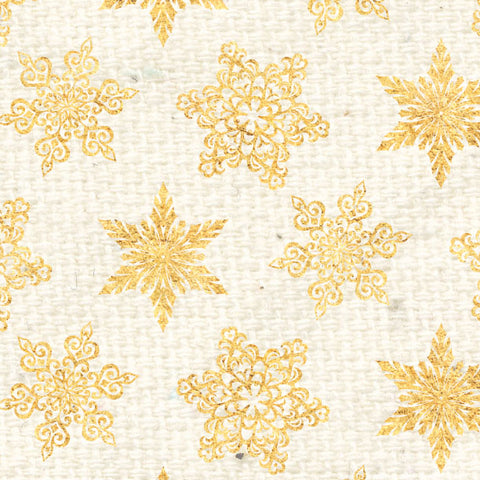 *********HDGS - Holly Days Gold Snowflakes Cardstock