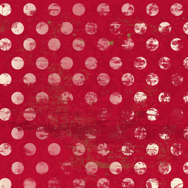 *********HDRWGD - Holly Days Red Wagon Grunge Dots