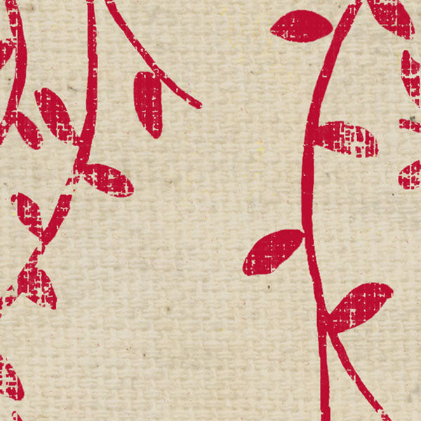 **WHRWSV8 - Red Wagon Stenciled Vines Paper  8 1/2 x 11