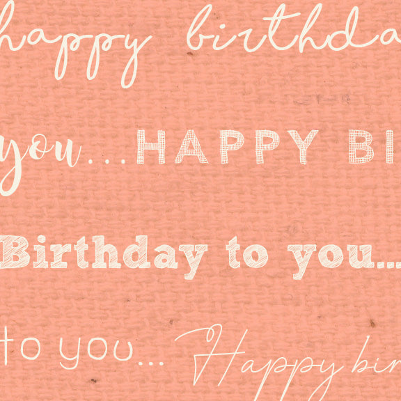 *******HBPNC - Happy Birthday Peaches 'n Cream Paper  8 1/2 x 11