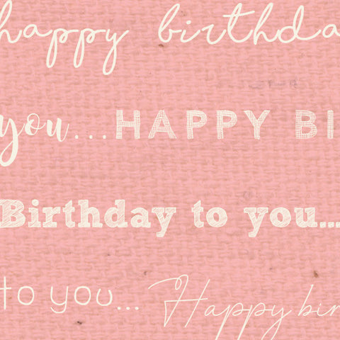 *******HBPG - Happy Birthday Pink Geranium Paper  8 1/2 x 11