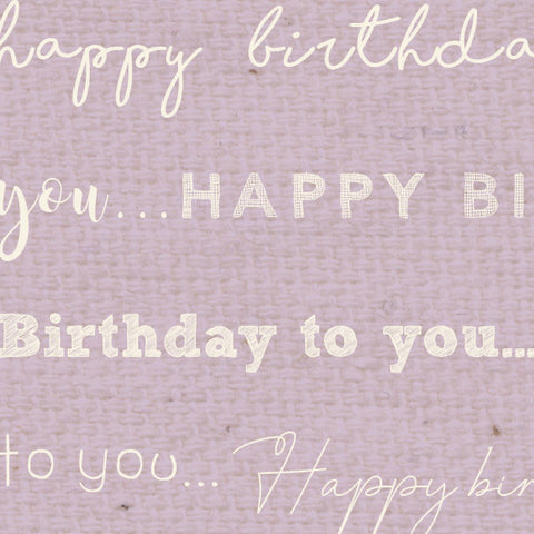 *******HBVL - Happy Birthday Vintage Lilac Paper  8 1/2 x 11
