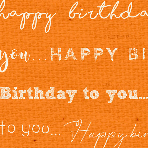 *******HBOP - Happy Birthday Orange Poppy Paper  8 1/2 x 11