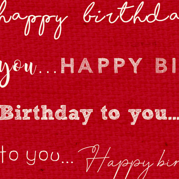*******HBRW - Happy Birthday Red Wagon Paper  8 1/2 x 11