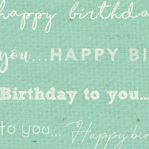 *******HBSF - Happy Birthday Sea Foam Paper  8 1/2 x 11