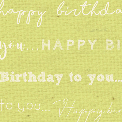 *******HBSP - Happy Birthday Sweet Pea Paper  8 1/2 x 11