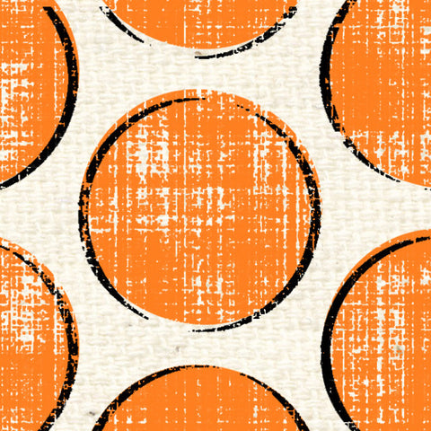 *******SP20OPJD - Orange Poppy Jumbo Dots  8 1/2 x 11