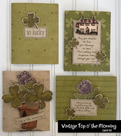 ********Vintage Top o' the Morning Card Kit