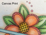 Whimsical Daisies - Cards & Envelopes for Coloring