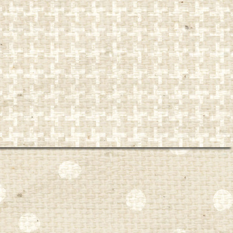 ****Baby's Breath Martha Dots & Tweed Double Sided Cardstock
