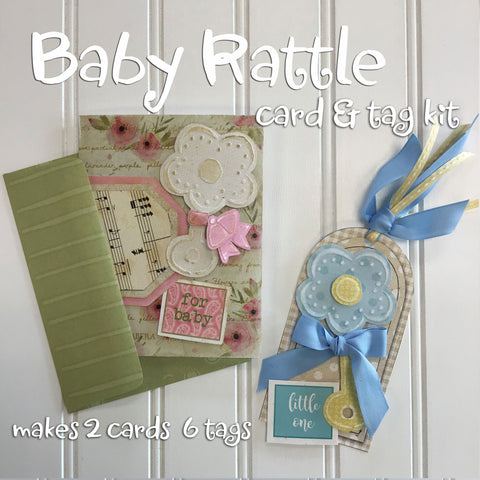 *******Baby Rattle Card and Tag Kit