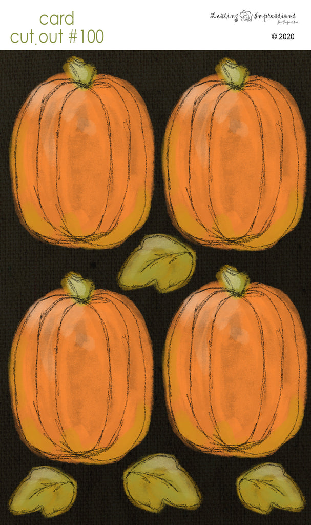 ********CCO100 - Card Cut Out #100 Large Pumpkins on Black