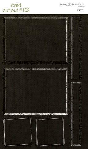 ********CCO102 - Card Cut Out #102 Distressed Frames on Black Canvas