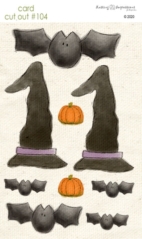 ********CCO104 - Card Cut Out #104 - Witches & Bats