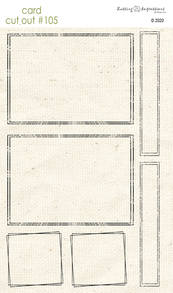 ********CCO105 - Card Cut Out #105 - Distressed Frames on Natural Canvas