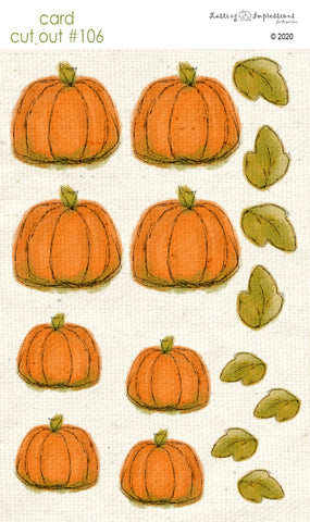 ********CCO106 - Card Cut Out #106 - Med & Small Pumpkins on Natural