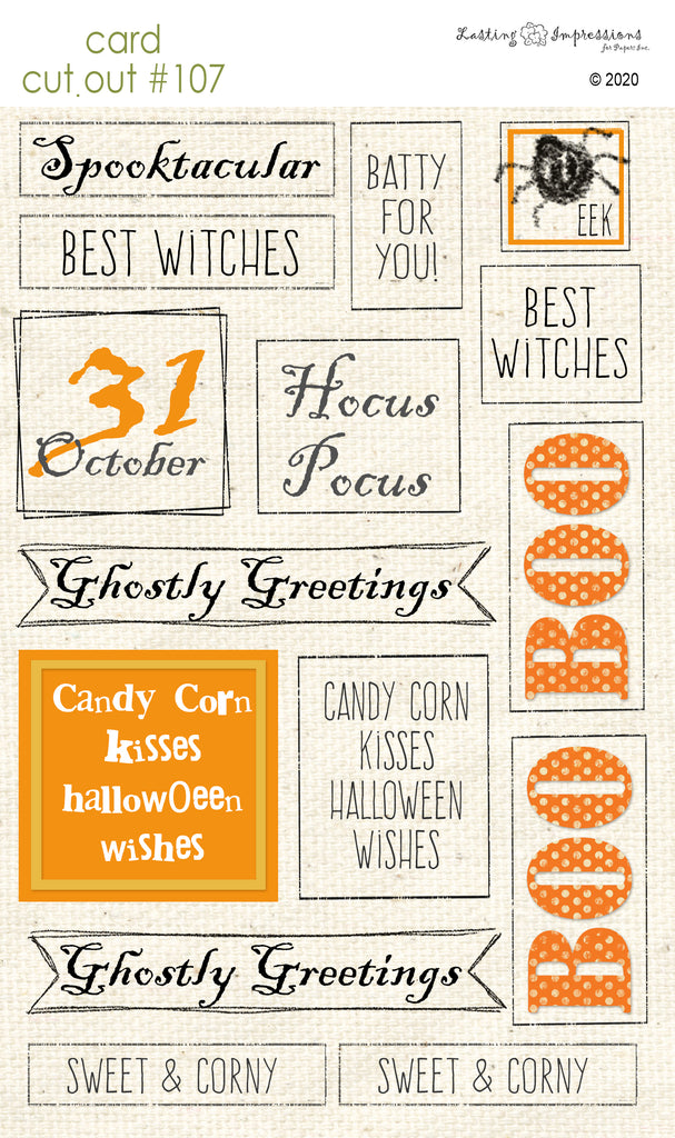 ********CCO107 - Card Cut Out #107 - Halloween Sentiments