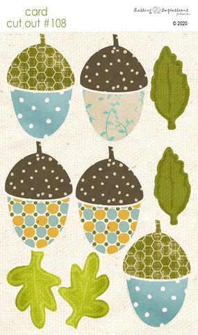********CCO108 - Card Cut Out #108 - Large Acorns & Leaves