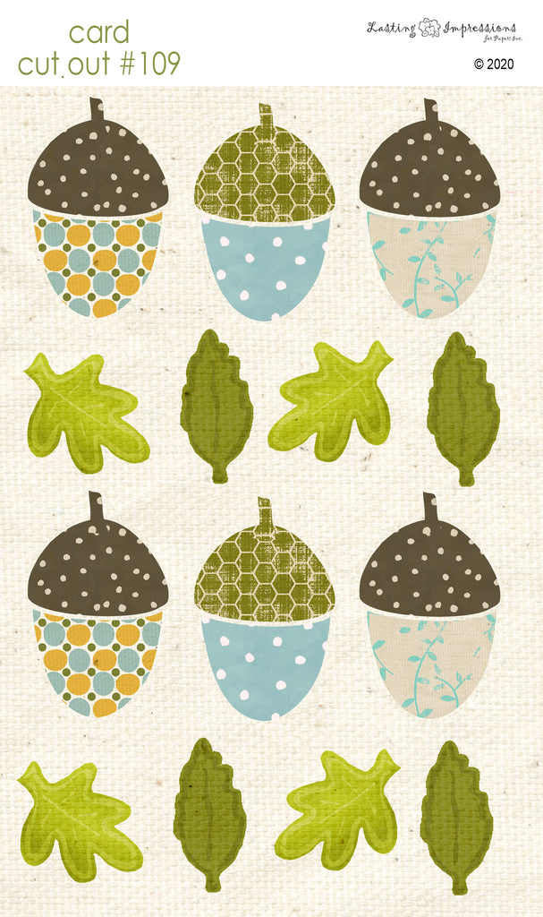 ********CCO109 - Card Cut Out #109 - Small Acorns & Leaves