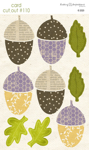 ********CCO110 - Card Cut Out #110 - Largel Acorns & Leaves