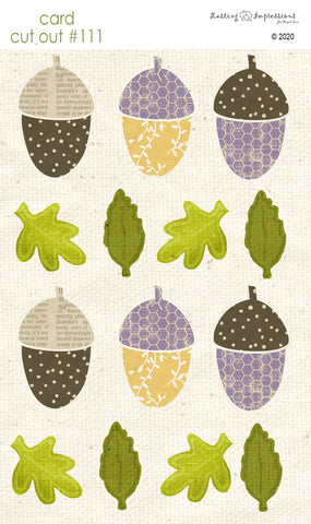 ********CCO111 - Card Cut Out #111 - Small Acorns & Leaves
