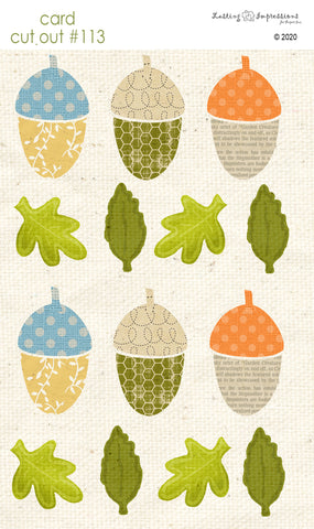 ********CCO113- Card Cut Out #113 - Small Acorns & Leaves