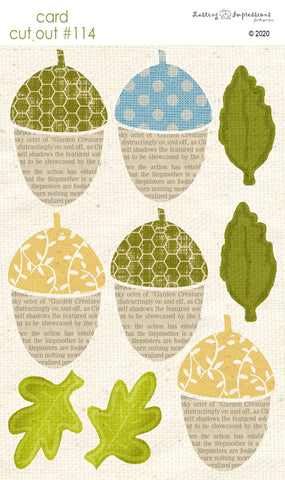 ********CCO114- Card Cut Out #114 - Large Acorns & Leaves