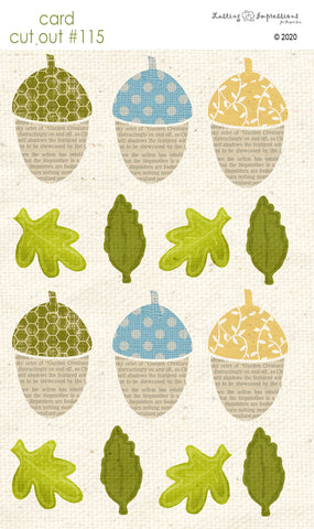 ********CCO115- Card Cut Out #115 - Small Acorns & Leaves