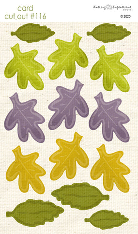 ********CCO116- Card Cut Out #116 - Autumn Leaves