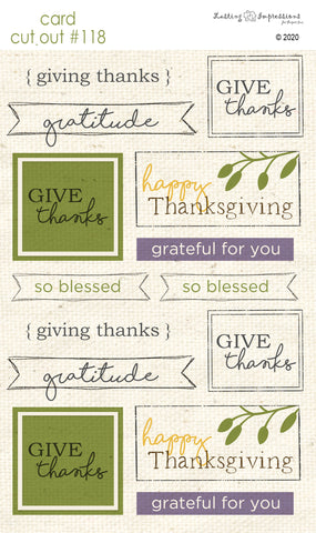 ********CCO118- Card Cut Out #118 - Autumn Sentiments