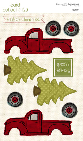 ********CCO120 - Card Cut Out #120 Christmas Truck with Tree