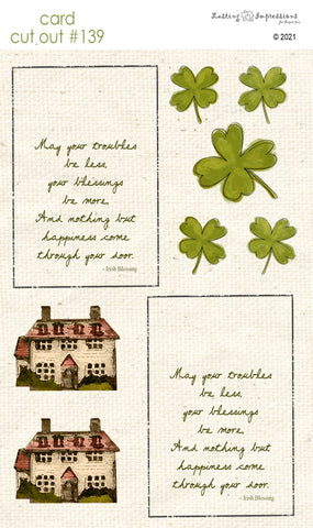********CCO139 - Card Cut Out #139 - Irish Cottage