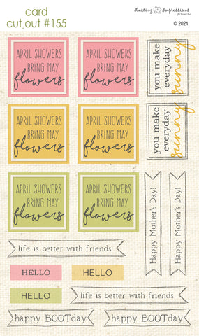 ********CCO 155 Card Cut Out #155 - April Showers Sentiments