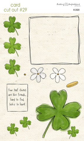 *****CCO29 - Card Cut Out #29 Shamrocks