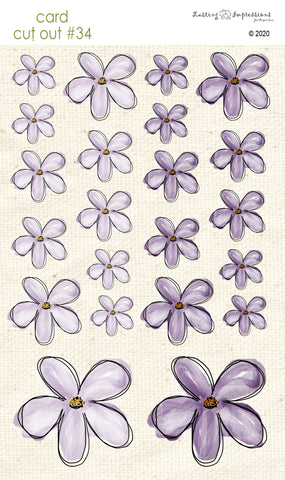 *******CCO34 - Card Cut Out #34 - Vintage Lilac Flowers